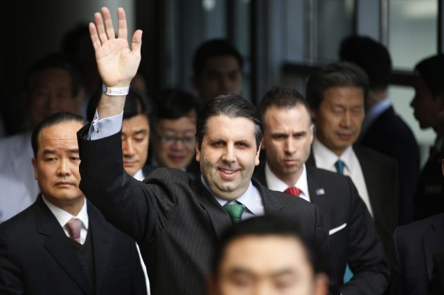 Mark Lippert, 42 ans, a évoqué un incident... (PHOTO KIM HONG-JI, REUTERS)