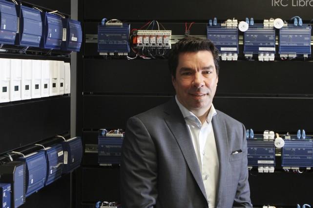 Étienne Veilleux, fondateur et PDG de Distech Controls,... (PHOTO STÉPHANE CHAMPAGNE, COLLABORATION SPÉCIALE)