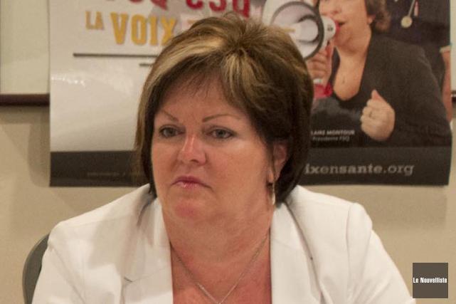 Andrée Guillemette, présidente du Syndicat des infirmières, inhalothérapeutes,... (Photo: Sylvain Mayer, Le Nouvelliste)