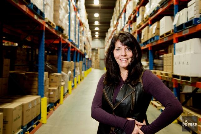 Brigitte Jalbert est présidente-directrice générale des Emballages Carrousel.... (PHOTO ALAIN ROBERGE, LA PRESSE)