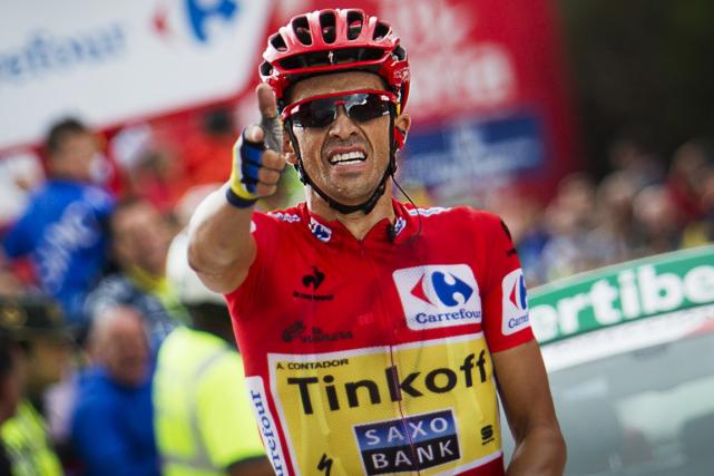Alberto Contador... (Photo Jaime Reina, archives AFP)