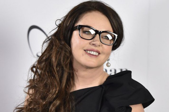 Sarah Brightman en conférence de presse à Londres.... (Photo: Reuters)