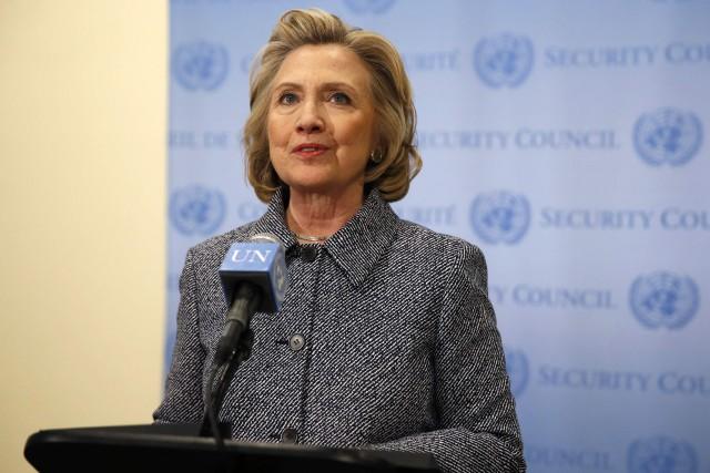 L'ancienne secrétaire d'État des États-Unis, Hillary Clinton... (Photo Mike Segar, Reuters)