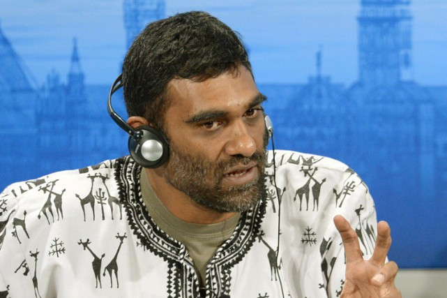 Kumi Naidoo, directeur de Greenpeace International.... (PHOTO ANDREAS GEBERT, AGENCE FRANCE-PRESSE)