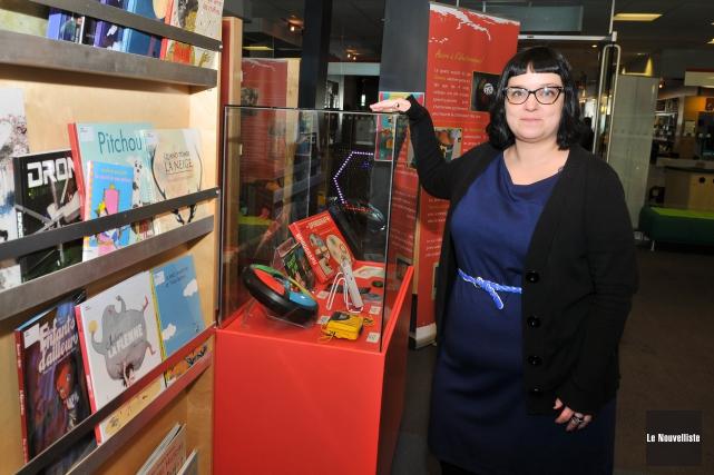 La responsable du secteur jeunesse de la Bibliothèque... (Photo: Émilie O'Connor Le Nouvelliste)