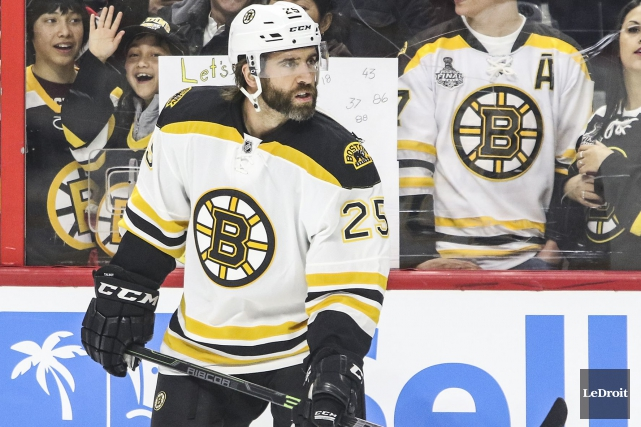 Maxime Talbot a quitté Denver pour Boston à... (Patrick Woodbury, Archives LeDroit)
