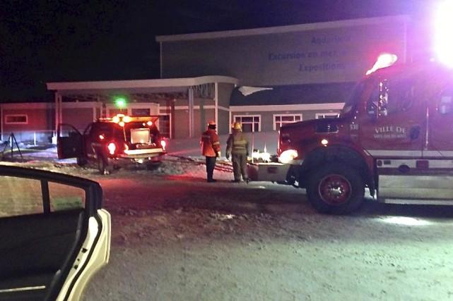 Un incendie s'est déclaré au début de la... (Photo tirée de Facebook)