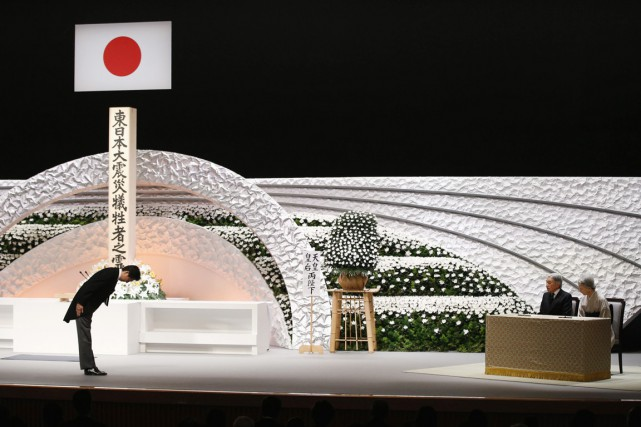Une poignante cérémonie s'est tenue à Tokyo en... (PHOTO TORU HANAI, REUTERS)