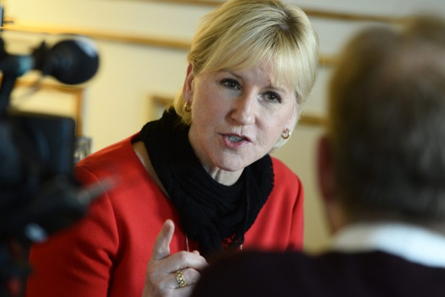 Mme Wallström interrogée par la radio publique suédoise... (PHOTO CLAUDIO BRESCIANI, ARCHIVES AP/TT)