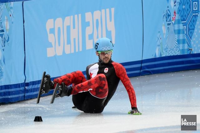 L'équipe masculine canadienne de patinage de vitesse courte... (Photo Bernard Brault, archives La Presse)