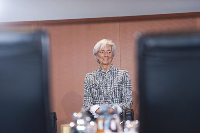 La directrice générale de FMI, Christine Lagarde... (PHOTO STEFANIE LOOS, AFP)