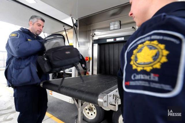 L'Agence des services frontaliers du Canada aurait arrêté... (PHOTO ARCHIVES LA PRESSE)