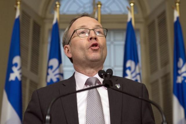 Le président du Conseil du trésor, Martin Coiteux.... (PHOTO ARCHIVES LA PRESSE CANADIENNE)