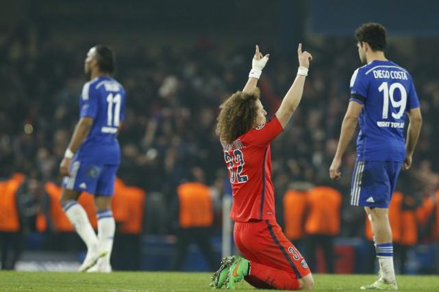 L'égalisation de David Luiz qui envoyait Paris en... (Photo AP)