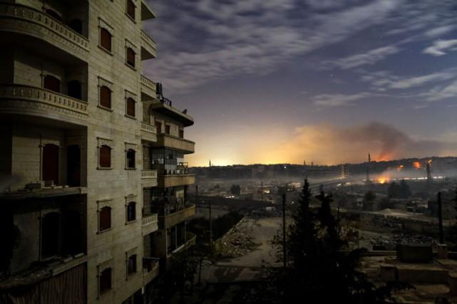 La ville d'Alep dans le nord est la... (Archives AFP)