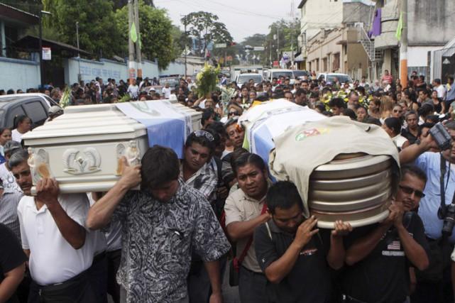 Danilo Lopez, journaliste à la revuePrensa Libre, l'un... (Photo: Reuters)
