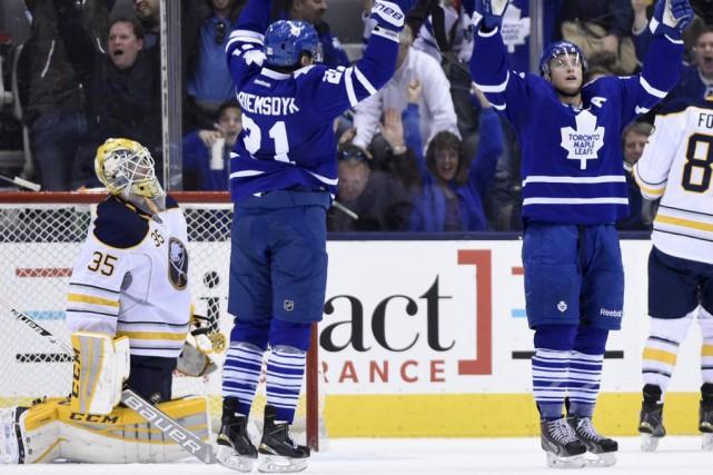 Tyler Bozak a été le seul à marquer en fusillade et les Maple Leafs de Toronto... (Photo La Presse Canadienne)