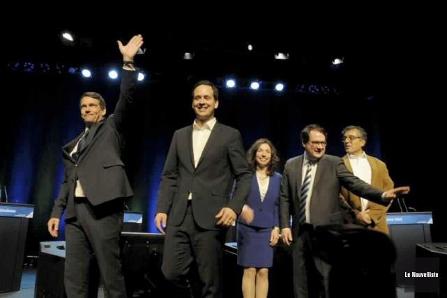 Les cinq candidats à la chefferie du Parti... (Le Nouvelliste, Sylvain Mayer)