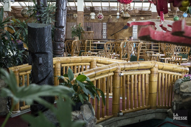 Une des particularités des intérieurs pop-polynésiens: le pont... (Photo: Olivier Pontbriand, La Presse)