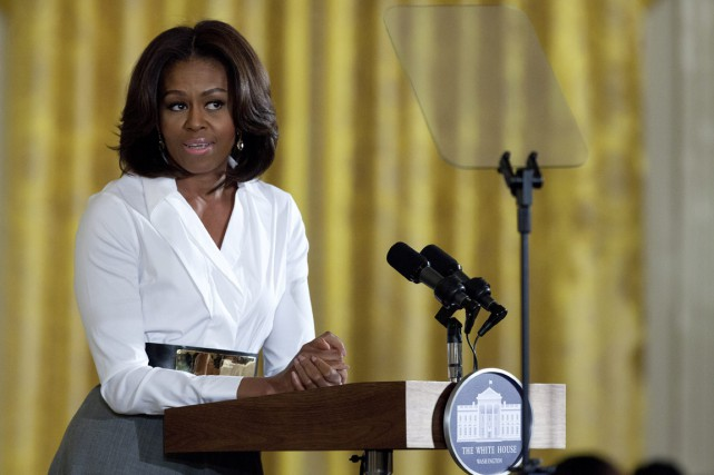 La Première dame Michelle Obama.... (PHOTO CAROLYN KASTER, ARCHIVES AP)