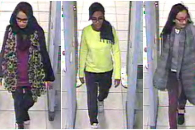 Les trois adolescentes, Shamima Begum, 15 ans, Kadiza... (IMAGE TIRÉE D'UNE VIDÉO, REUTERS)