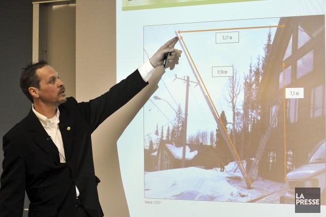 nspecteur responsable de l'enquête, Frédéric Potvin a présenté... ((Photo Rocket Lavoie))