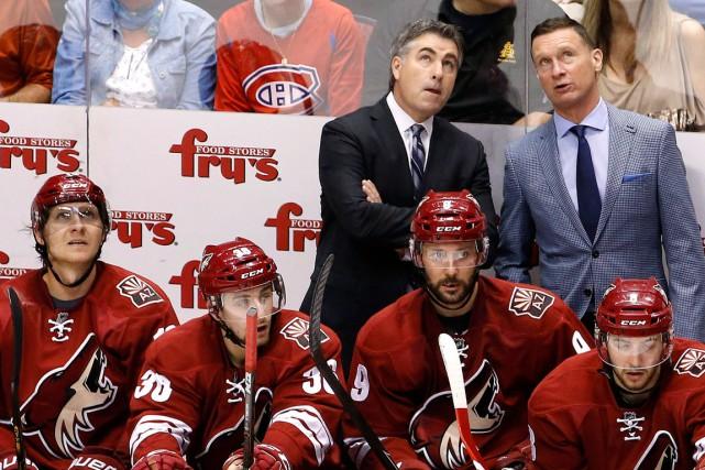 L'entraîneur des Remparts, Philippe Boucher, a évolué sous... (Photo AP, Ross D. Franklin)