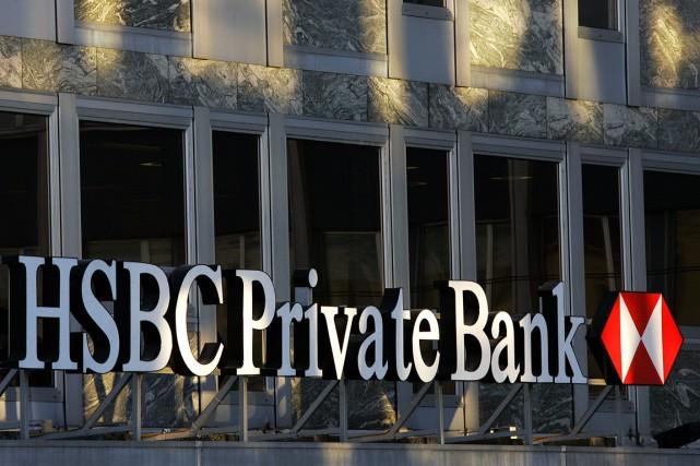 HSBC PB est secouée par des accusations d'évasion... (PHOTO FABRICE COFFRINI, ARCHIVES AFP)