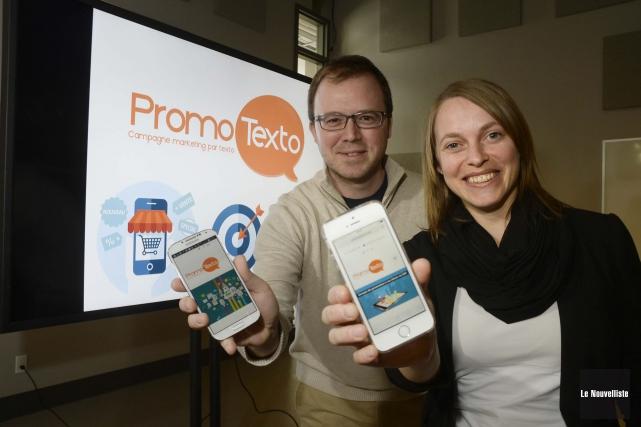 Louis-Philippe Poulin et Kathy Béliveau ont présenté un... (Photo: Sylvain Mayer Le Nouvelliste)