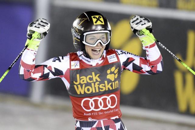Anna Fenninger... (PHOTO JONATHAN NACKSTRAND, AFP)