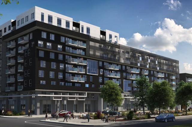 L'ambitieux Rosemont-les-Quartiers, un projet de 250millions, l'un des... (Photo de la maquette fournie par le Réseau Sélection)