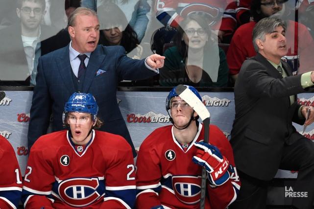 L'entraîneur Michel Therrien ne laisse pas paraître d'inquiétude... (PHOTO BERNARD BRAULT, ARCHIVES LA PRESSE)