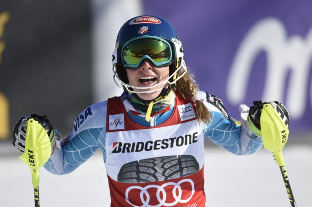 Mikaela Shiffrin... (PHOTO PONTUS LUNDAHL, AP)