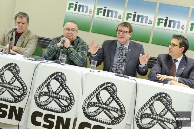 Engelbert Cottenoir, président du Conseil central CSN Saguenay-Lac-Saint-Jean,... ((Photo Le Quotidien, Gimmy Desbiens))