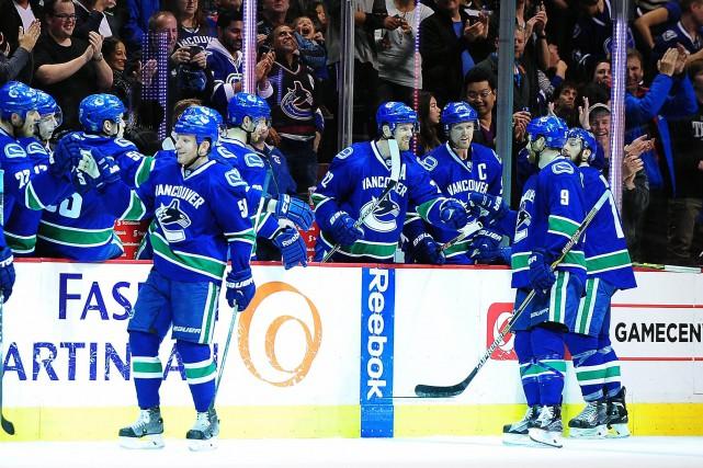 Les Canucks se sont rachetés après avoir encaissé... (Photo Anne-Marie Sorvin, USA Today)
