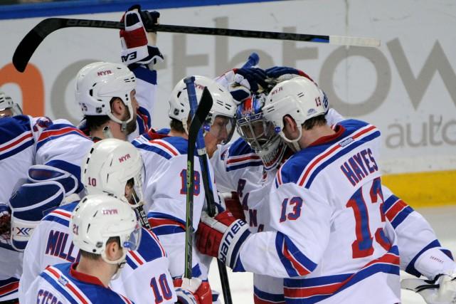 Keith Yandle a fait mouche en troisième période et les Rangers de New York ont... (Photo Gary Wiepert, AP)