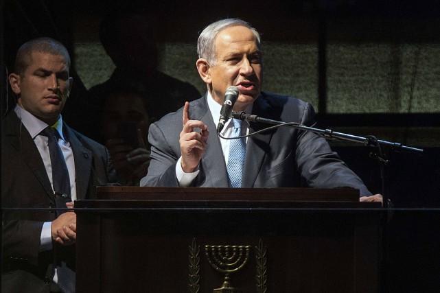 Le premier ministre sortant Benyamin Nétanyahou.... (PHOTO JACK GUEZ, AGENCE FRANCE PRESSE)
