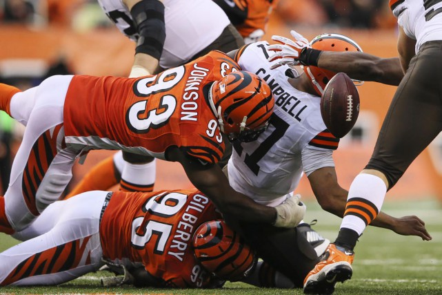 Michael Johnson a disputé 79 matchs avec les Bengals... (Photo Kevin Jairaj, archives USA TODAY Sports)
