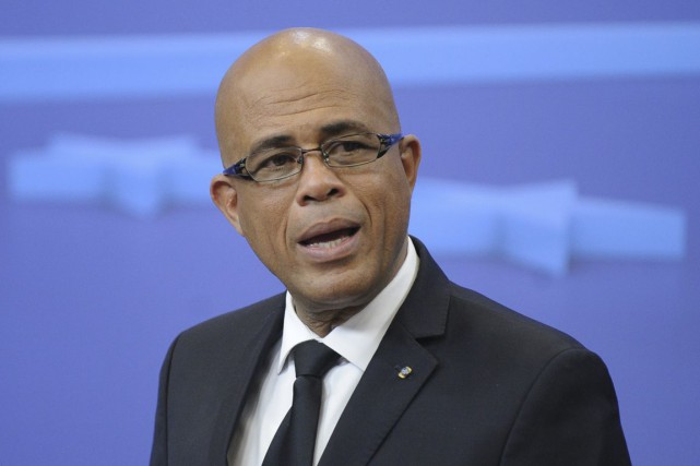 Le président haïtien Michel Martelly... (Photo archives AFP)