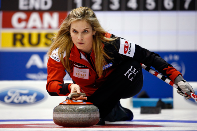 La skip de l'équipe canadienne de curling féminin,... (Photo Thomas Peter, Reuters)