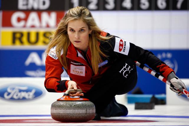 La skip de l'équipe canadienne de curling féminin,... (Photo Thomas Peter, Reuters)
