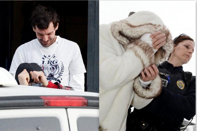 Michaël Arsenault et Nancy Gauthier, tous deux accusés... (Photos Jeannot Lévesque)