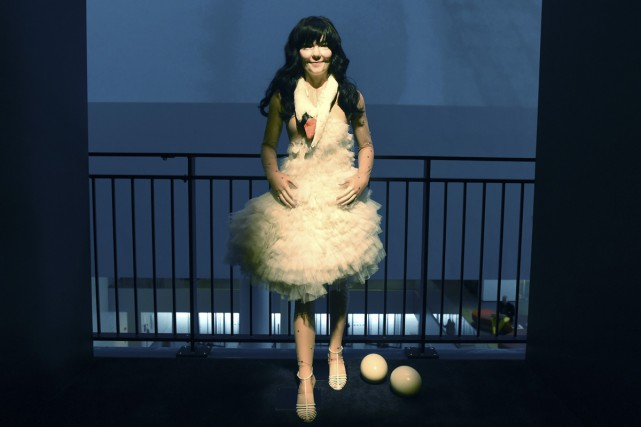 L'exposition du MoMA consacrée à la chanteuse Björk... (Photo: AFP)