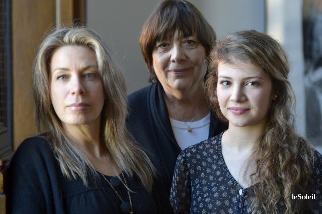 Céline Bonnier, Léa Pool et Lysandre Ménard... (Le Soleil, Yan Doublet)