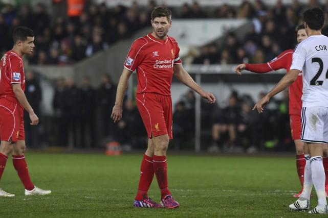 L'entrée de Gerrard à la 64e minute a... (PHOTO PAUL ELLIS, AFP)