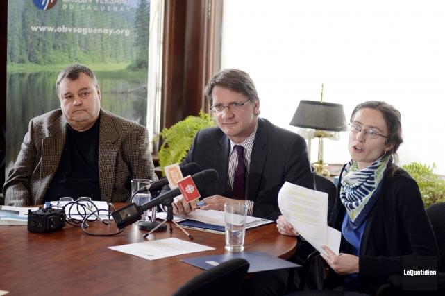 Daniel Desgagné et Maude Lemieux-Lambert, respectivement président et... ((Photo Le Quotidien, Jeannot Lévesque))