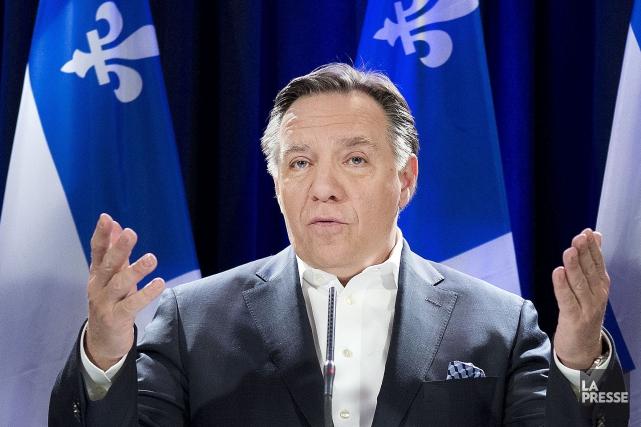 Le chef caquiste François Legault a présenté hier... (Archives La Presse)