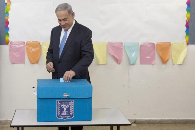 Le premier ministre israélien, Benyamin Nétanyahou... (Photo Sebastian Scheiner, AP)