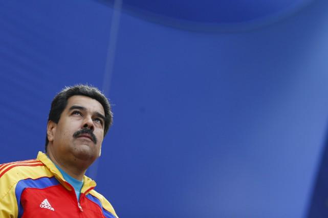 Le président du Venezuela, Nicolas Maduro...