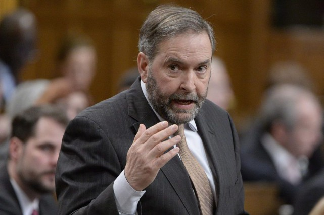 Le chef du NPD Thomas Mulcair a fait... (PHOTO ADRIAN WYLD, ARCHIVES LA PRESSE CANADIENNE)
